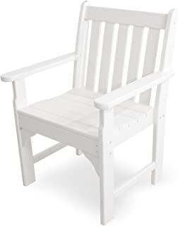 product image for POLYWOOD GNB24WH Vineyard Garden Arm Chair, White