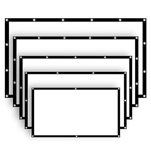 MYAMIA 60/77/100/120/136 inchs 16: 9 Pantalla del Proyector ...