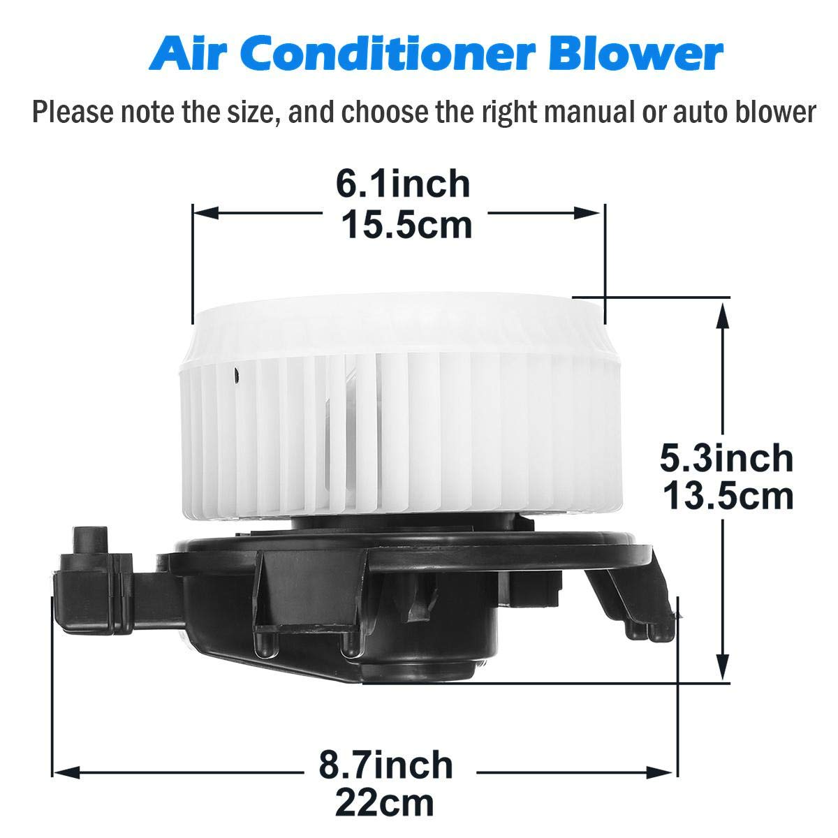 Replacement Parts AUTEX HVAC Blower Motor Assembly Compatible with ...