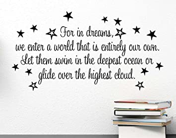 Amazoncom For In Dreams We Enter A World That Is Entirely Our Own