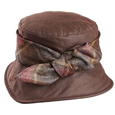 98475691689 Olney Nancy Waterproof Ladies Wax Hat (Brown) at Amazon Women's Clothing  store: