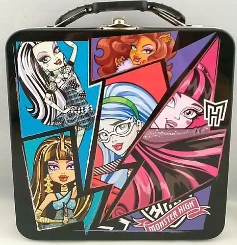 1 X Monster High Dolls Tin Favor Lunch Box -