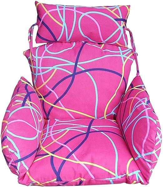 YXZN Cojines para Asientos giratorios Cojines para sillas al Aire Libre en el Interior Colgante Hamaca con Forma de Huevo Cojines Sofá de jardín Sillones Sillas Colgantes Sillón Trasero: Amazon.es: Hogar