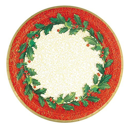 (Christmas Holly Dessert Plates, 8ct )