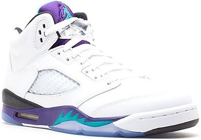 Nike Jordan 5 Retro GS Age Adolescent, Couleur Blanc