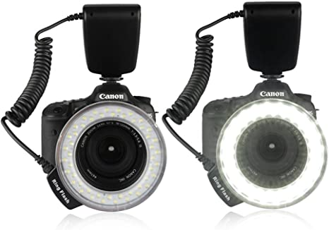 Excelvan 48 LED anillo de flash para Nikon D3000 D3100 D3200 D3300 ...
