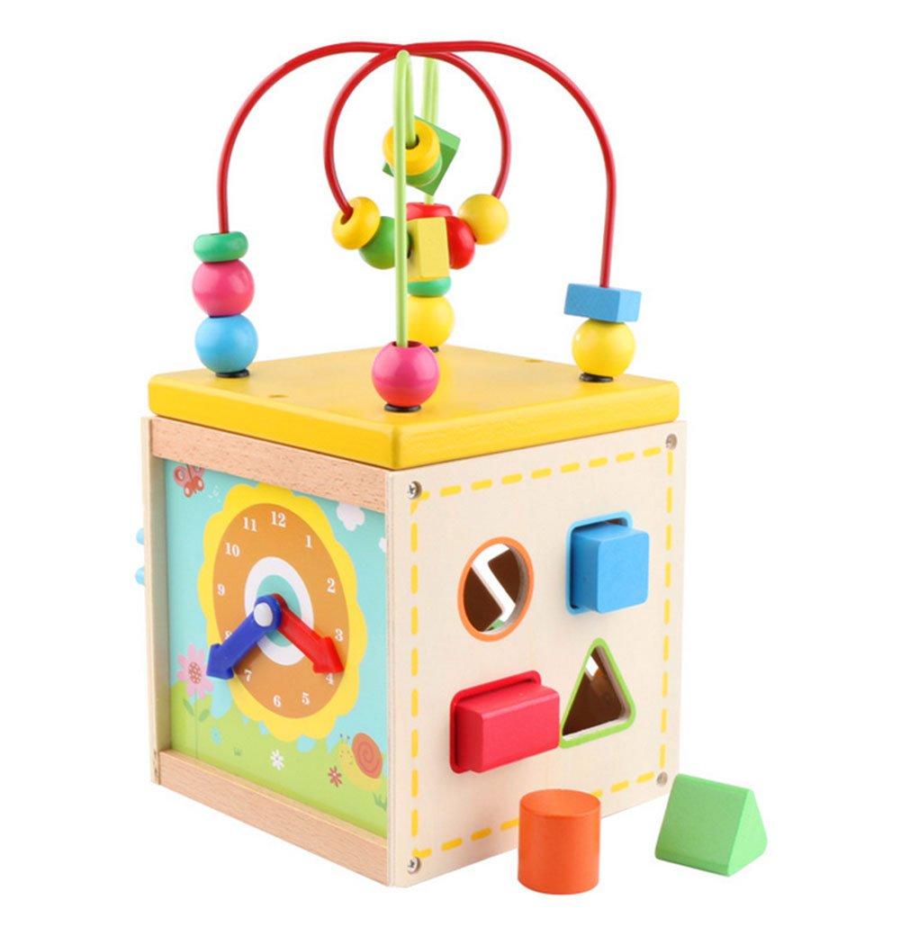 babypriceカラー形状認識玩具木製アラームクロックpre-kindergarten   B06Y1YV5ZK