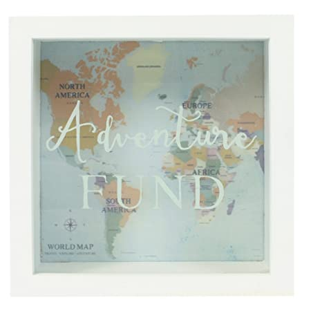 Jones home and gift adventures fund frame money box white amazon jones home and gift adventures fund frame money box white gumiabroncs Gallery