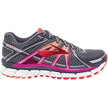 powerful Brooks Women's Adrenaline GTS 17 Silver/Purple Cactus Flower/Bluebird 7 D US