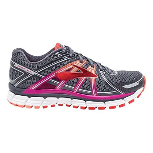 Brooks Women's Adrenaline GTS 17 Silver/Purple Cactus Flower/Bluebird 7 D US