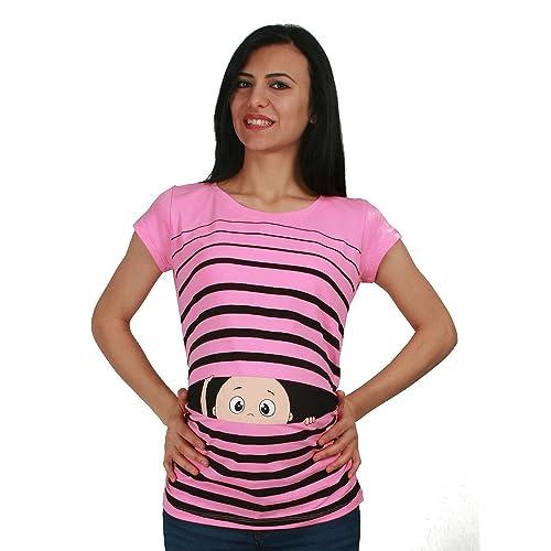 M.M.C. Ropa premamá Divertida y Adorable, Camiseta con Estampado, Regalo Durante el Embarazo -