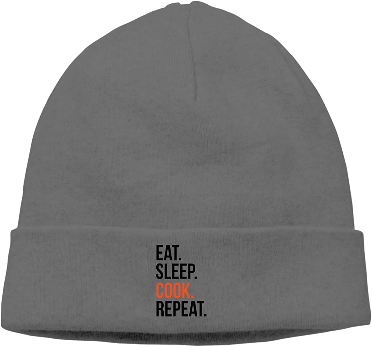 Nskngr Eat Sleep Cook Repeat Logo Mens/&Womens Warm /& Stylish Beanie Hats