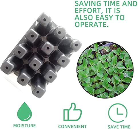 Zinniaya Durable 12 Cells Hole Nursery Pots Plant Seeds Grow Box Tray Insert Propagation Seeding Case Flower Pot Plug Plant Trays