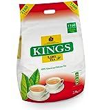 Kings Tea, (Kings Label Tea), 1160 bustine di tè, 2,8 chilo, 2 tazze, tè di approvvigionamento