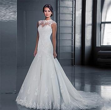 HAPPYMOOD Vestido de novia Mujer Cordón Vestido de novia Elegante Vestido de la etapa Tamaño personalizado