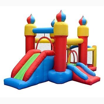 Tobogán inflable Trampolín Inflable para Niños Aire Libre, Parque ...