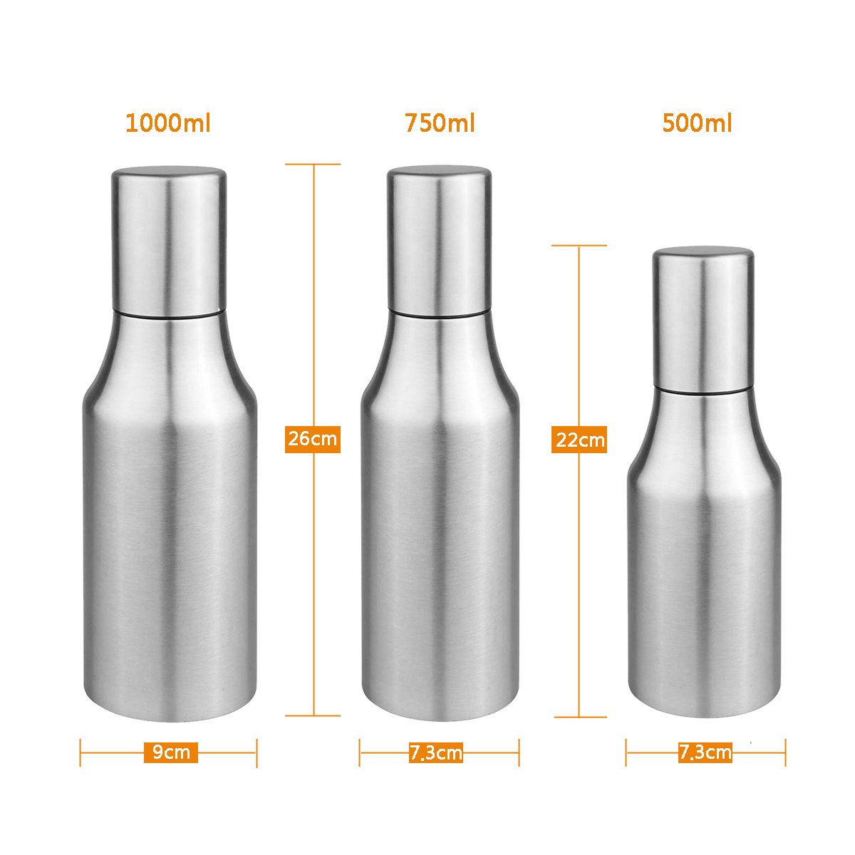 Oil Dispenser Oil Vinegar Pourer Bottle Olive Oil Container Safey Exquisitely Leak Proof Unbreakable Oil Quantity Control Fits Perfect for BBQ 17oz 500ML Flyboo0002 COMINHKPR145351