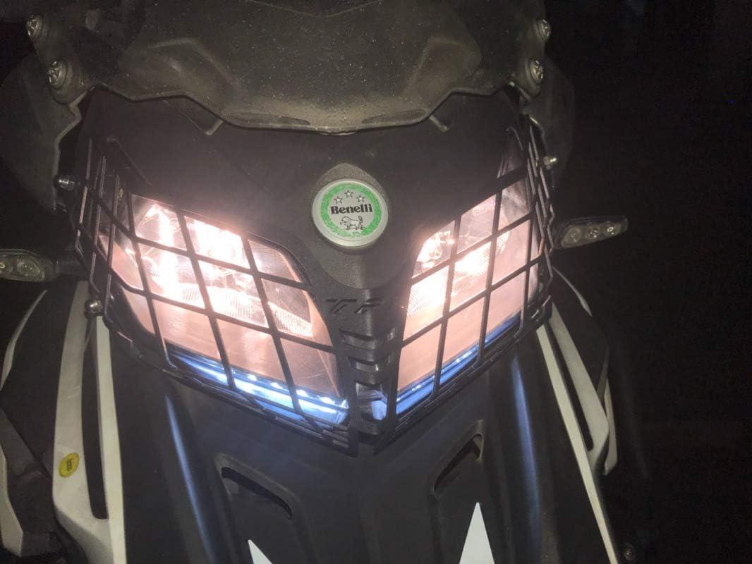 ETbotu Moto Modifica Faro Net Faro Gril Guard Cover per Benelli TRK502X 2018