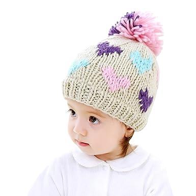 fe8454ddad3 ... new zealand imleck infant boy girl beige blue purple hand knit love  wool baby hat fde39