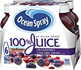 Ocean Spray 100% Juice Cranberry Concord Grape, 10 Ounce Bottles (Pack Of 6 )