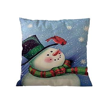 Tebaise Karneval Weihnachten Kissenbezug Set Leinen Dekorative