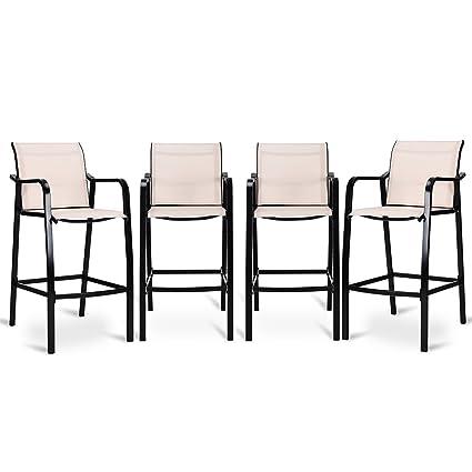 Amazon Com Adumly Set Of 4 Pcs Counter Height Stool Patio Chair