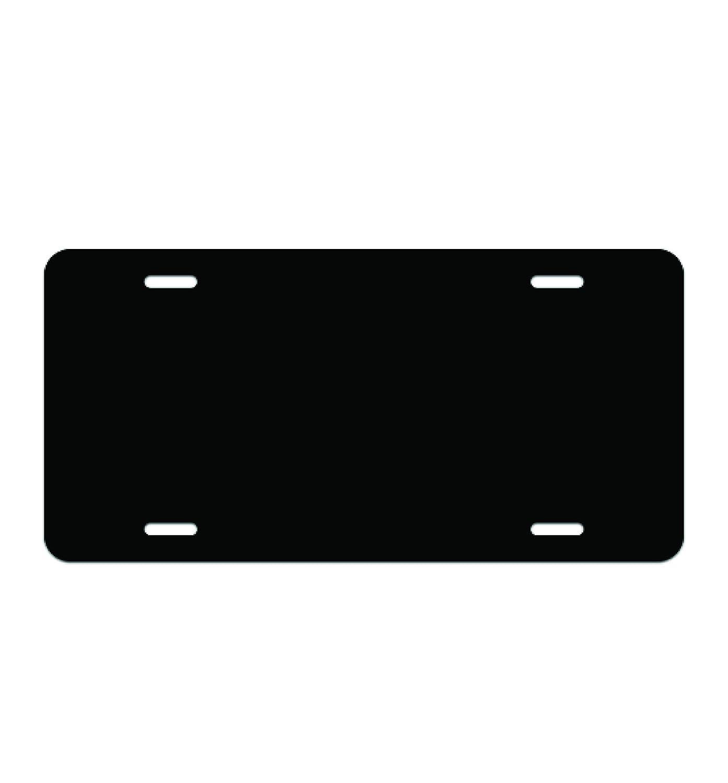 1, Black Wrapco Graphics License Plate Blank