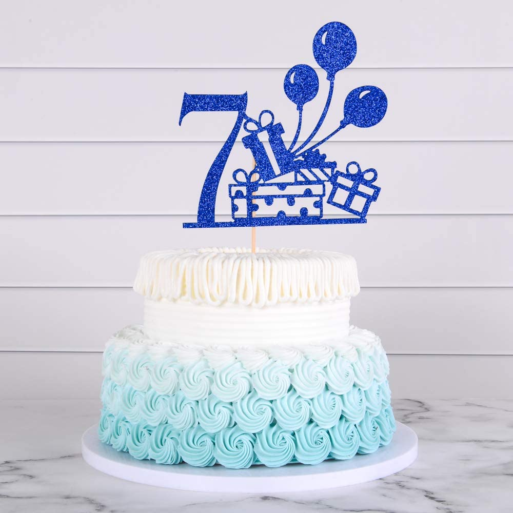 Fine Amazon Com Happy Birthday Cake Topper Of 7 Years Old Cake Topper Personalised Birthday Cards Paralily Jamesorg