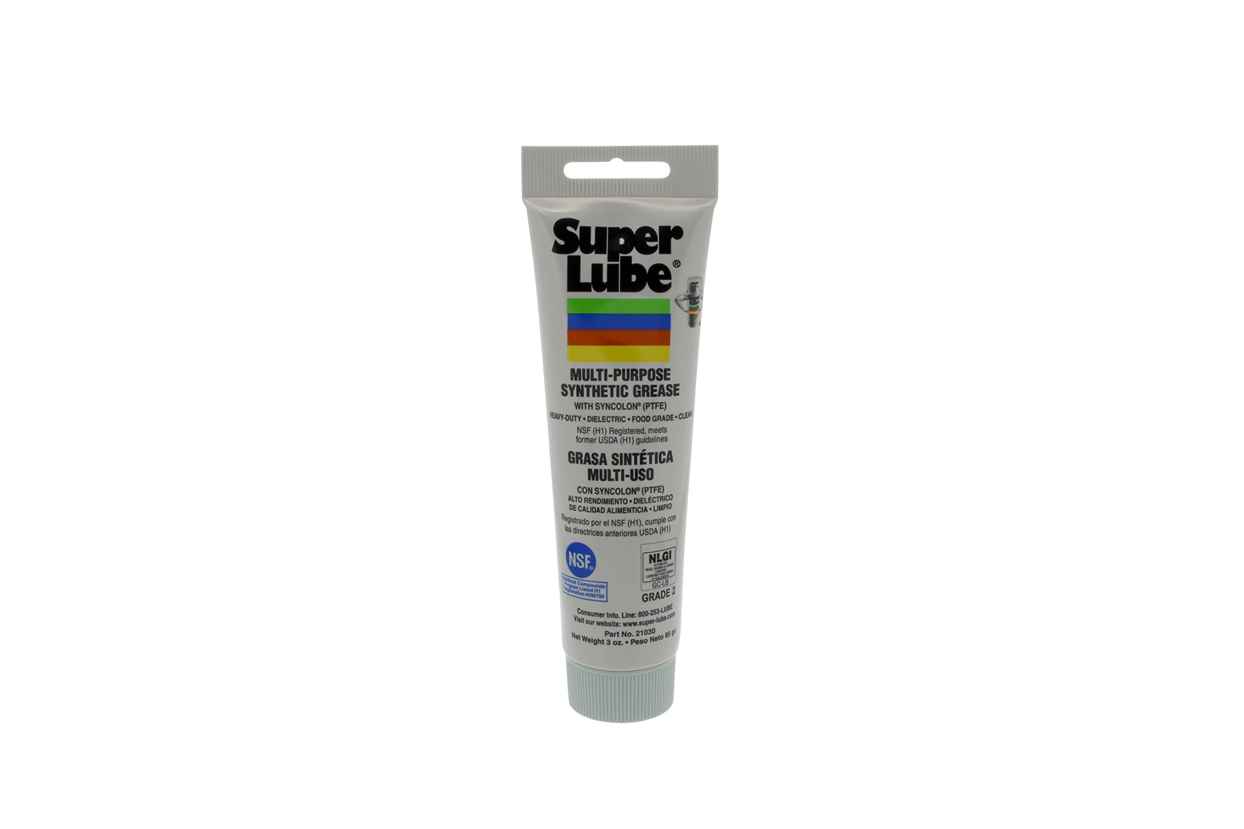 Super Lube 21030 Synthetic Grease (NLGI 2), 3 oz Tube