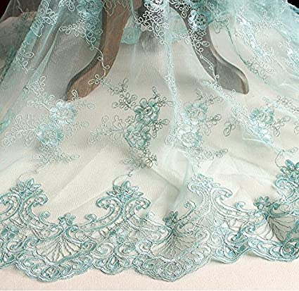 4529df73f4c53 Generic 1 Meter/lot 130cm Width Embroidered Lace Fabric 8 Colors for ...