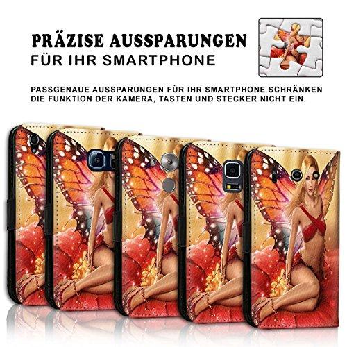 Wallet Book Style Flip Handy Tasche Case Schutz Hülle Schale Motiv Etui für Apple iPhone 6 / 6S - Design Flip MVD372