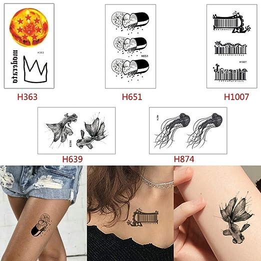 adgkitb Belleza Mujeres Tatuaje Temporal Pegatina Cuerpo Arte Flor ...
