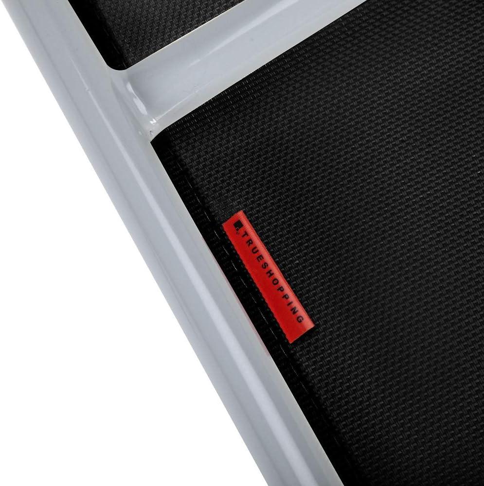 Patio Trueshopping Sedie da Giardino Pieghevoli in Alluminio Balcone e per Un Portico Colore Nero Ideali per Giardino Seggiolini Pieghevoli Leggeri con Schienali Regolabili