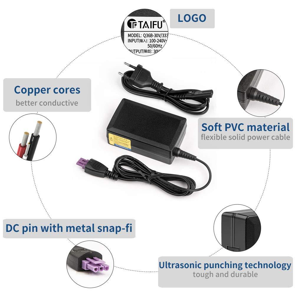 TAIFU 32V 1560MA Alimentation Adaptateur Secteur pour Imprimante Pour HP Officejet 4500 6000 6500 7000 7500 7500A HP Deskjet 6500 6520 6540 6540xi 6540dt 6543 6840 D1668 HP Photosmart 8750 8450 C5100