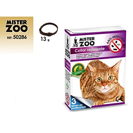 TODOBICHOS - COLLAR REPELENTE NATURAL PARA GATOS MISTER ZOO