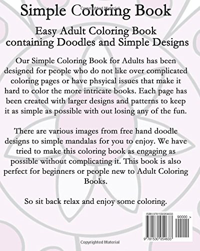 Amazon com: Simple Coloring Book: Easy Adult Coloring Book