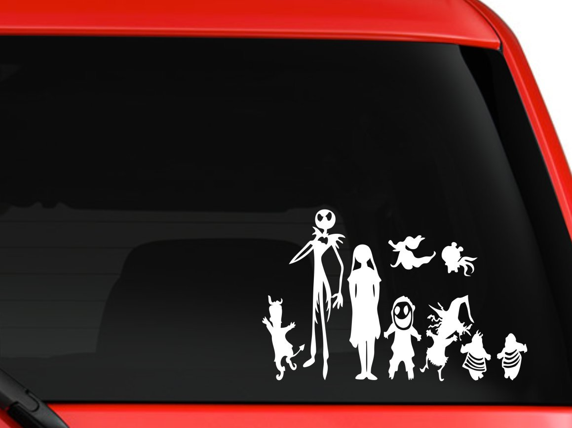 Amazoncom Disney Nightmare Before Xmas Jack Skellington And - Family decal stickers for carsamazoncom stick family stick family car window wall laptop decal