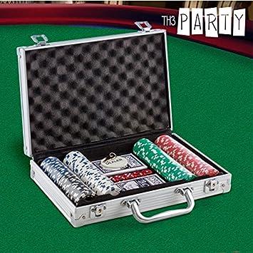 Maletín de 200 fichas de poker-Conjunto de casino: Amazon.es: Juguetes y juegos