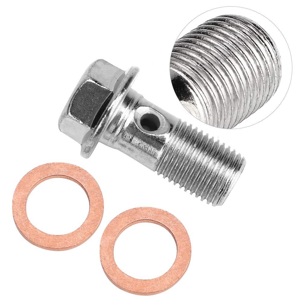 Tornillo de manguera de tornillo de motocicleta Suuonee 10 mm M10x1.00 Tornillo de manguera de tornillo de acero inoxidable de motocicleta para bomba de freno