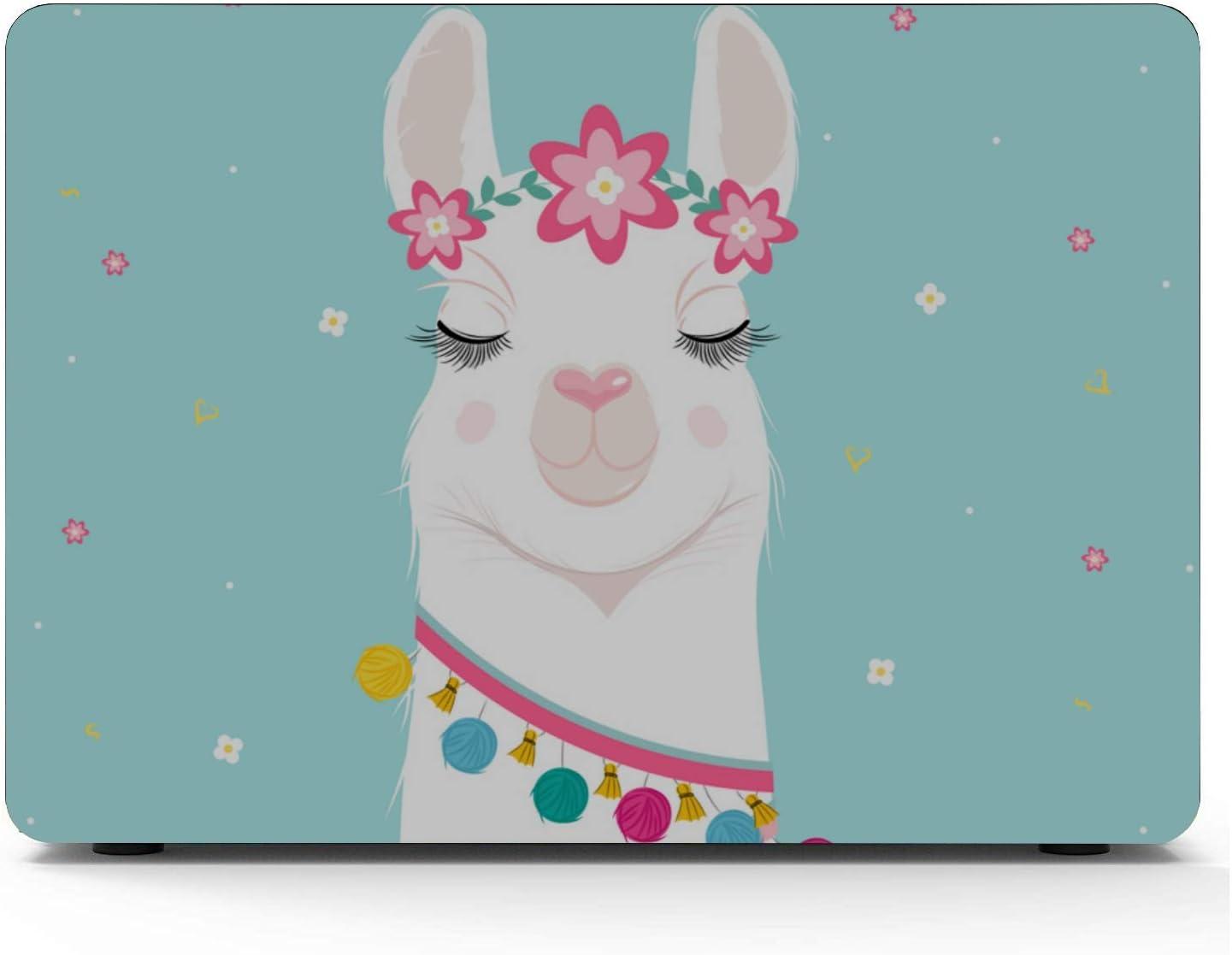 Mac Pro Laptop Case Cartoon Humorous Alpaca Llama Plastic Hard Shell Compatible Mac Air 11 Pro 13 15 MacBook Air Accessories Protection for MacBook 2016-2019 Version