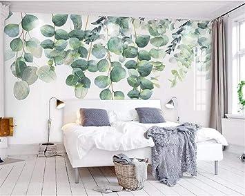Lyqyzw Custom Plants Bedroom Living Room Wall Hand Painted