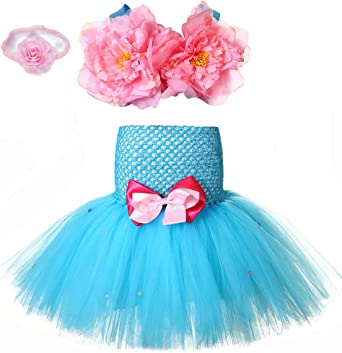 Mermaid Ariel Toddler Bady Girl Princess Tutu Dress Cosplay Party Costume 1-7T