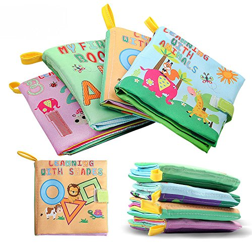 Baby SOFT BOOK Animal Forest :Non-toxic Soft Baby Toys Early Education Animal Cloth Book (Parents Halloween Coloring Pages)
