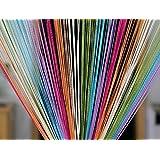 Pindia Decorative Multicolored String Thread Room Door Curtain- 7ft x 3.6ft, Multicolor