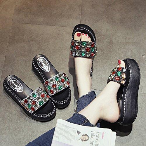 de Zapatos Plateado Verano en Mujer d4Z8wrq46