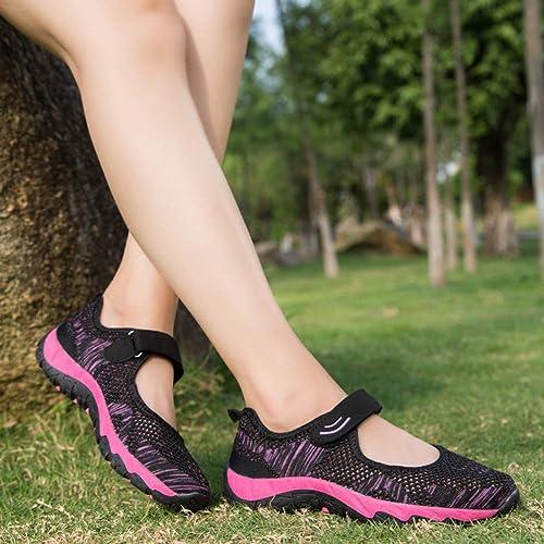 Amazon.com: Mujer Diabético Zapatos de Caminar, Correa ...