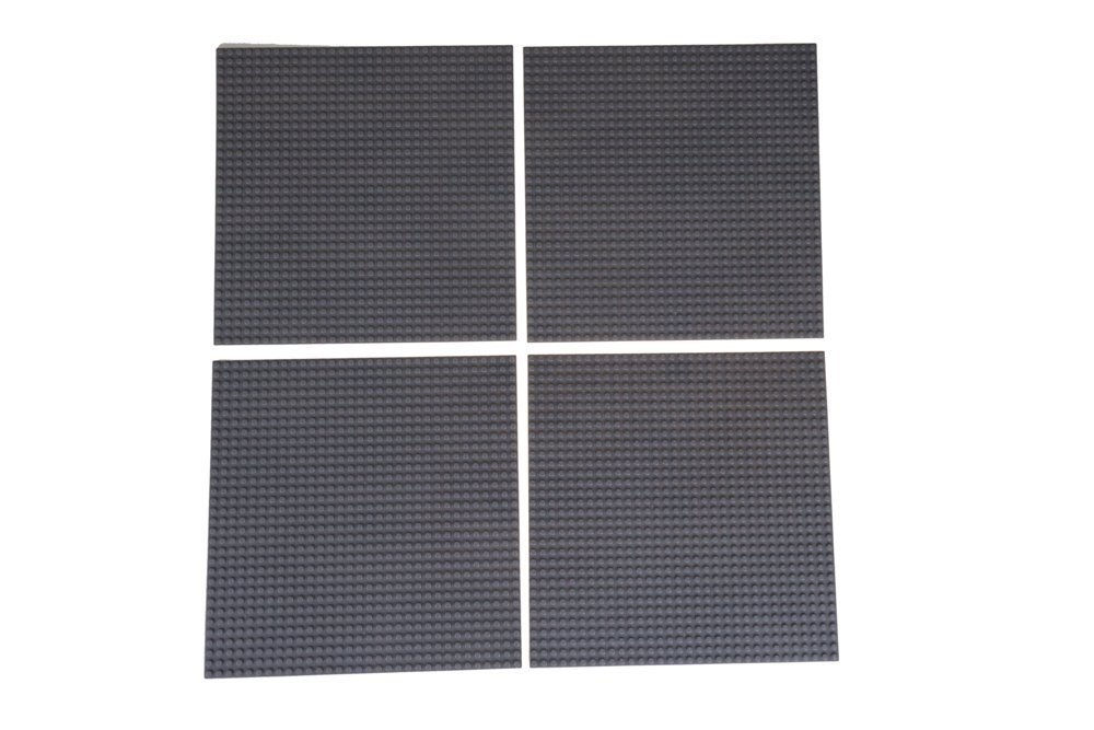4 Gray Theme Baseplates and More Baseplates for Building Towers Strictly Briks Classic Stackable Baseplates 10 x 10 Building Brick Base Plates 100/% Compatible with All Major Brands Tables