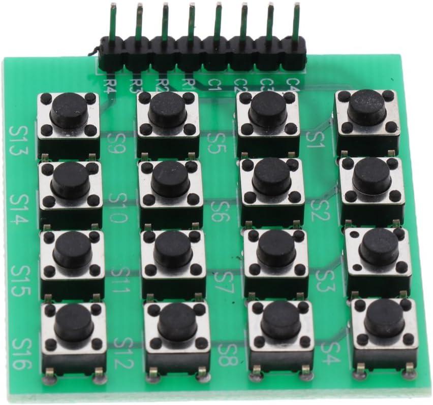 Sharplace Clavier 4 x 4 Matrice /Étalage Clavier Pav/é Num/érique 16 Touches Pour Arduino Boutons Noir