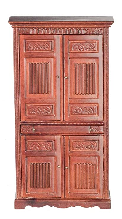 Amazon Melody Jane Dollhouse Tudor Liquor Cabinet Walnut JBM