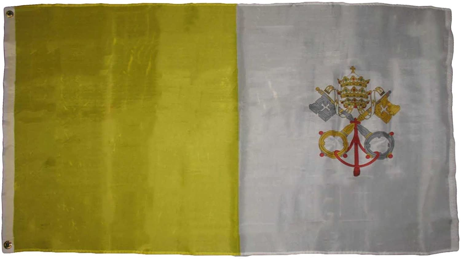 3x5 Vatican City Flag Holy See Papal State Pope Rome Italy Roman Catholic Church